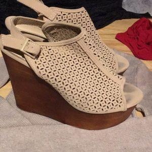 """Bamboo wedge heels 5 1/2"""""""